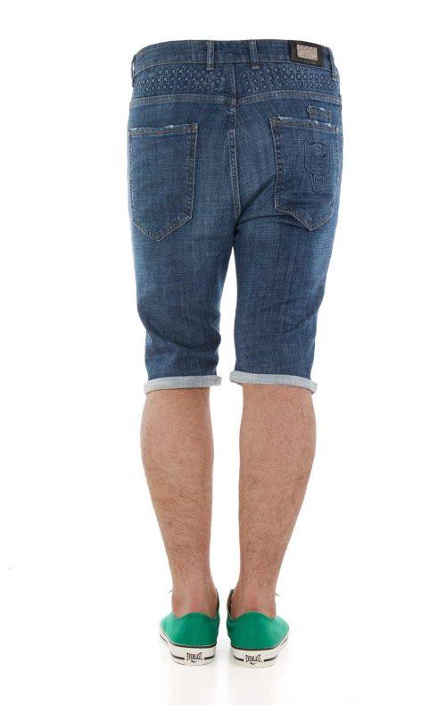 خرید اینترنتی شلوارک جین مردانه طرح PHILIPP PLEIN