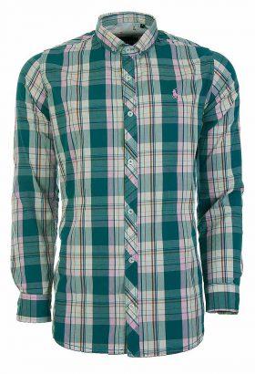 پیراهن نخی آستین بلند مردانه U.S.POLO