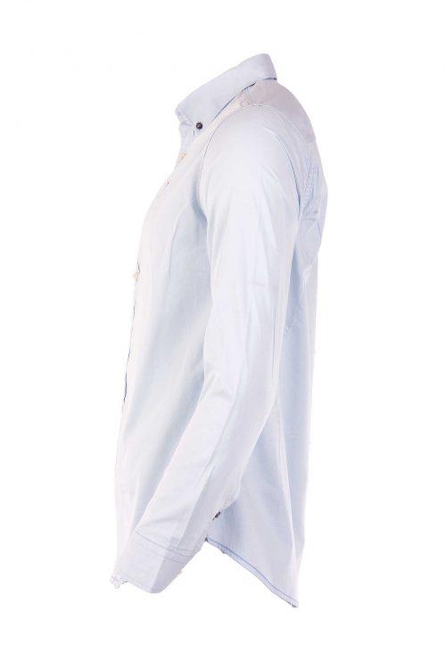 پیراهن نخی آستین بلند مردانه POLO