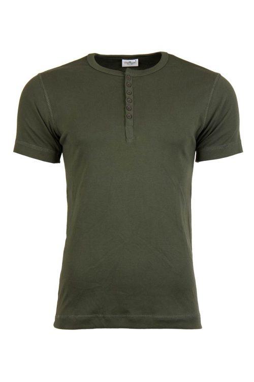 تی شرت یقه گرد دکمه دار مردانه TOM TAILOR