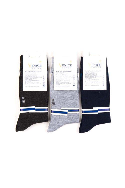 جوراب ساق دار مردانه پک 3 عددی VENICE
