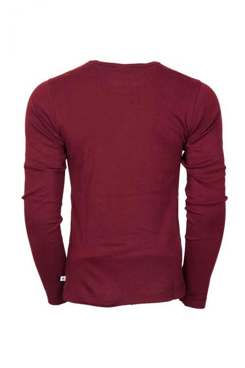 تی شرت آستین بلند ساده یقه دکمه دار مردانه TOM TAILOR