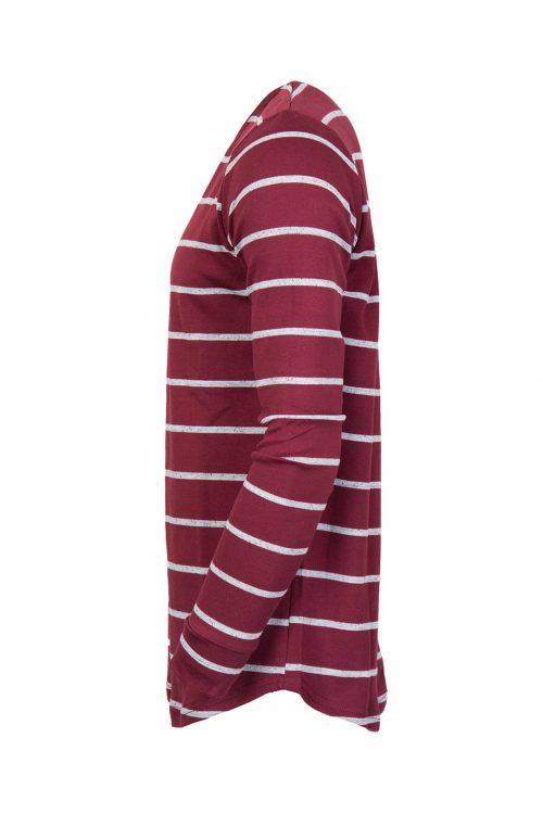 تی شرت آستین بلند مردانه نیم لانگ H&M