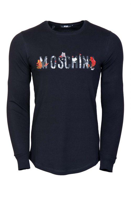 تی شرت آستین بلند مردانه نیم لانگ Moschino