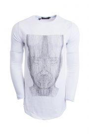 تی شرت لانگ مردانه طرحدار PHILIPP PLEIN