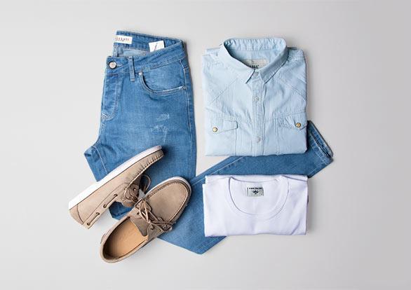 ست اسپرت شلوار جین و پیراهن جین