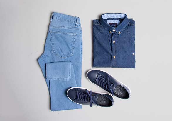ست اسپرت شلوار جین ، پیراهن جین و کفش راحتی LOUIS VUITTON
