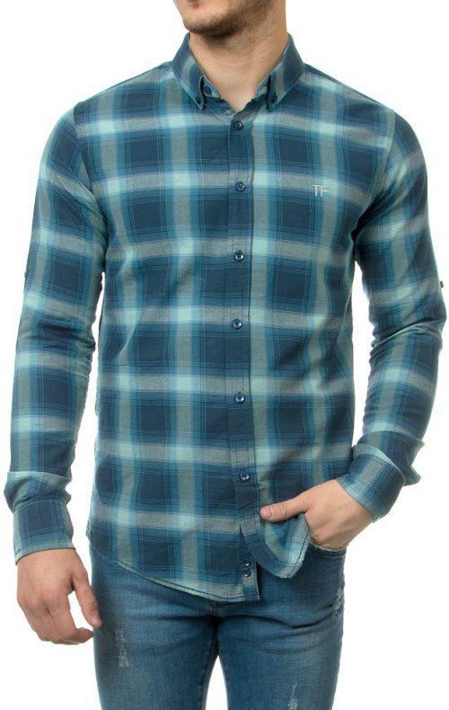 پیراهن چهارخانه مردانه Tom Ford