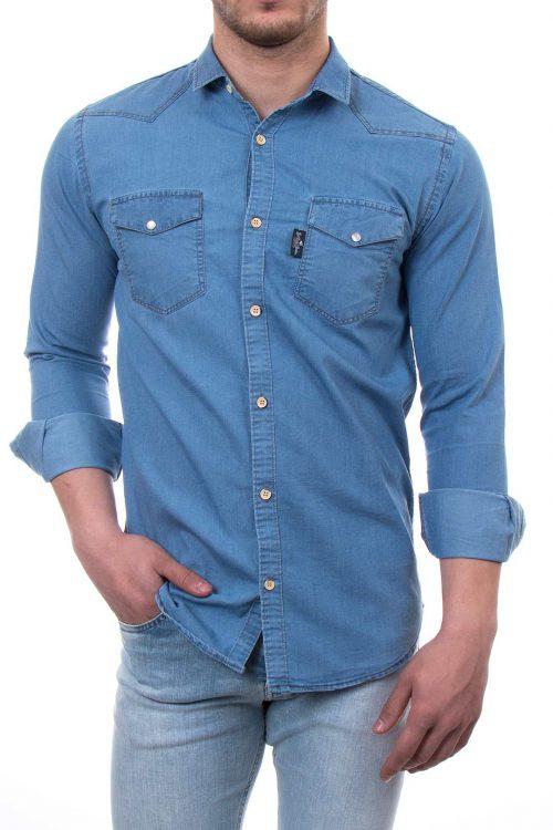 پیراهن جین مردانه دو جیب POLO