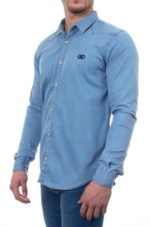پیراهن جین ساده مردانه Salvatore Ferragamo