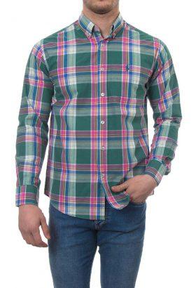 پیراهن چهارخانه مردانه POLO