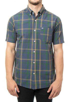 پیراهن آستین کوتاه چهارخانه مردانه