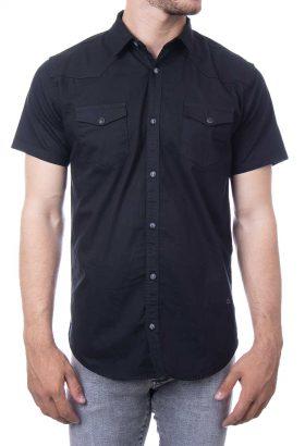 پیراهن آستین کوتاه کتان کش مردانه Calvin Klein
