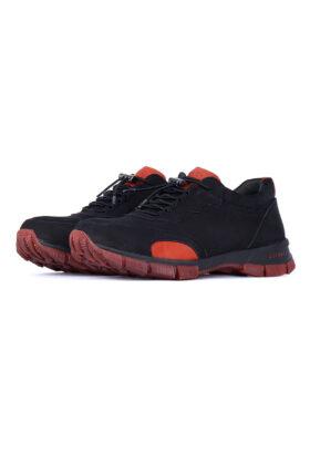 کفش راحتی مردانه T.O مشکی و قرمز 419