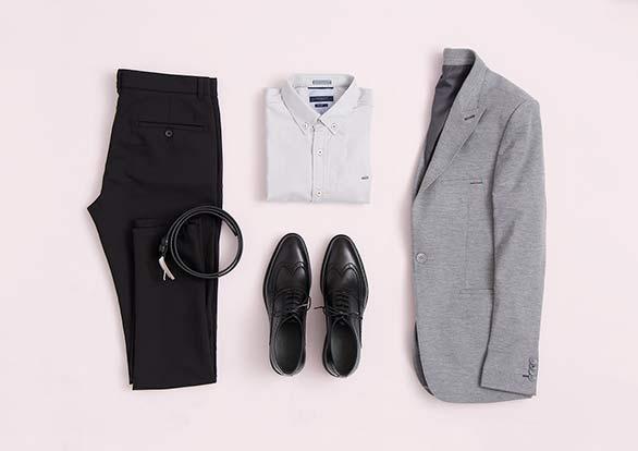 ست رسمی مردانه کت تک و شلوار کتان