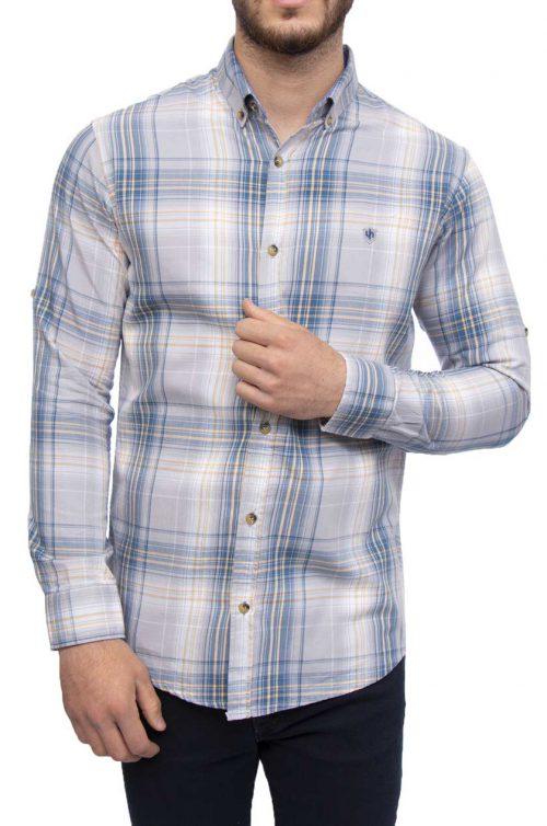 پیراهن چهارخانه مردانه Cactus