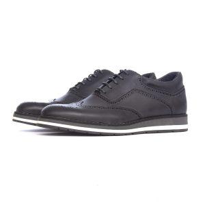 کفش اداری چرم طبیعی هشت ترک مردانه O-R