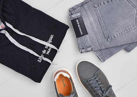 ست اسپرت هودی مردانه و شلوار جین مردانه