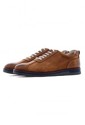 کفش راحتی مردانه چرم طبیعی W.M قهوهای 650