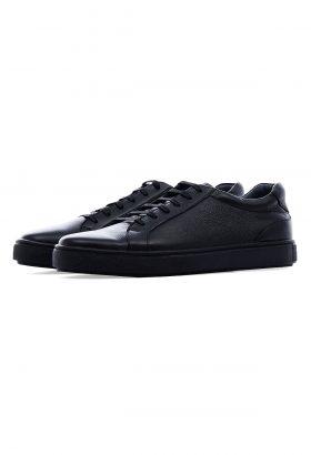 کفش راحتی مردانه چرم طبیعی Shanel مشکی 646