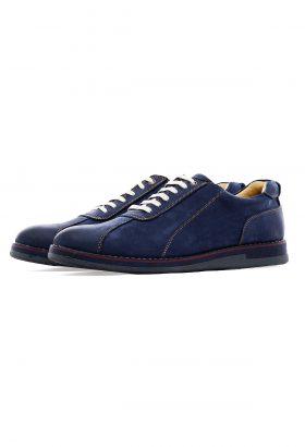کفش راحتی مردانه چرم طبیعی W.M آبی 649