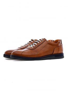 کفش راحتی مردانه چرم طبیعی W.M قهوهای 651