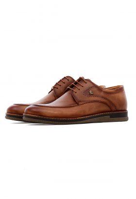 کفش رسمی مردانه چرم طبیعی XL قهوهای روشن 647