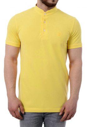 تیشرت مردانه یقه دیپلمات Massimo Dutti زرد 1151
