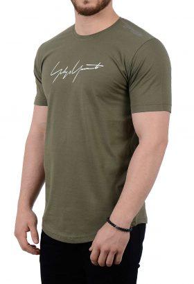 تیشرت مردانه زیتونی مدل 1773