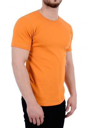 تی شرت ساده یقه گرد مردانه TOM TAILOR نارنجی 1797
