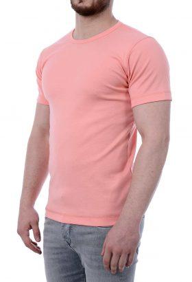 تی شرت ساده یقه گرد مردانه TOM TAILOR گلبهی 1797