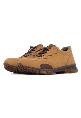 کفش راحتی مردانه چرم طبیعی T.O شتری 658