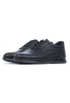 کفش راحتی مردانه چرم طبیعی Shanel مشکی 659