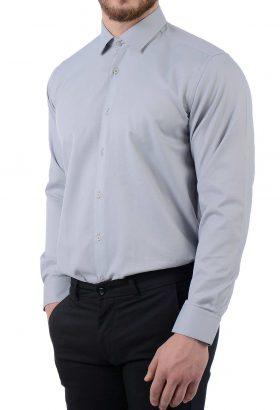 پیراهن مردانه TIFFANY کلاسیک طوسی 1824