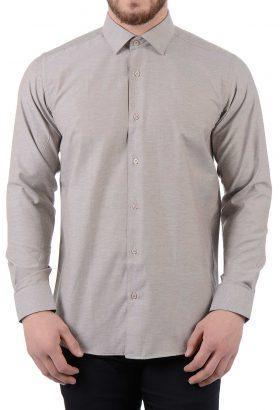 پیراهن مردانه TIFFANY کلاسیک خاکی 1825