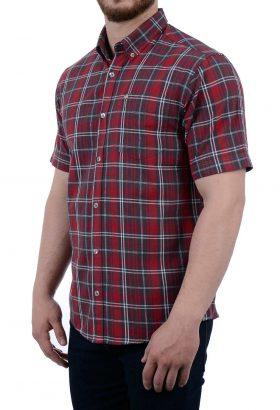 پیراهن آستین کوتاه مردانه POLO قرمز 1852