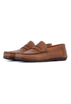 کفش کالج مردانه چرم طبیعی TODS قهوهای روشن 661