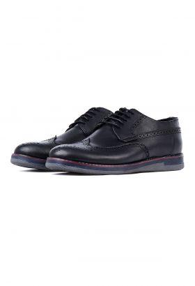 کفش هشترک مردانه چرم طبیعی W.M مشکی 666