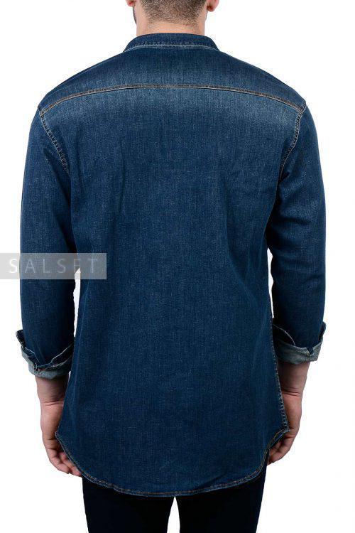 پیراهن جین مردانه K.R آبی تیره 1865