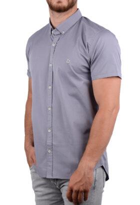 پیراهن آستین کوتاه مردانه Hermes طوسی 2008