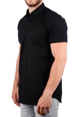 پیراهن آستین کوتاه مردانه Hermes مشکی 2012