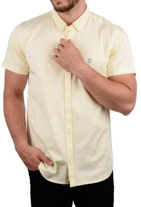 پیراهن آستین کوتاه مردانه Hermes لیمویی 2009