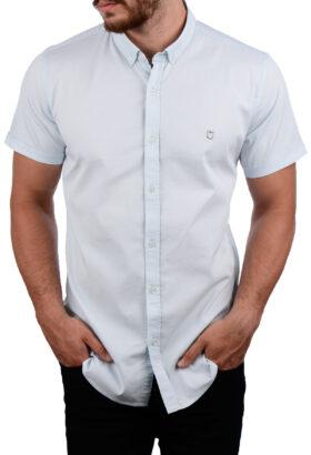 پیراهن آستین کوتاه مردانه Hermes آبی روشن 2013