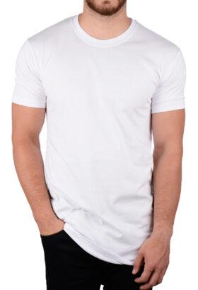تیشرت لانگ مردانه طرح ZARA سفید 1992