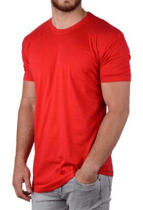 تیشرت لانگ مردانه طرح ZARA قرمز 1995