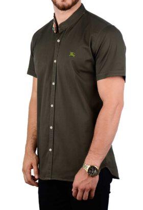 پیراهن آستین کوتاه مردانه Burberry سبز 2088