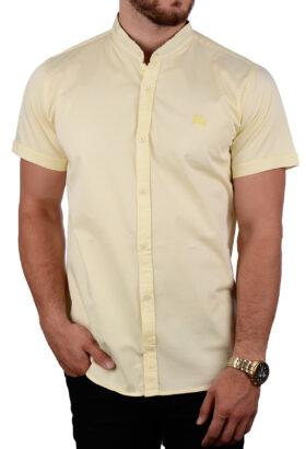 پیراهن آستین کوتاه مردانه Burberry لیمویی 2083