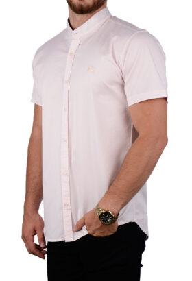 پیراهن آستین کوتاه مردانه Burberry صورتی 2084