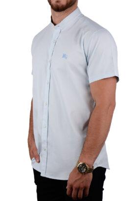 پیراهن آستین کوتاه مردانه Burberry آبی روشن 2086