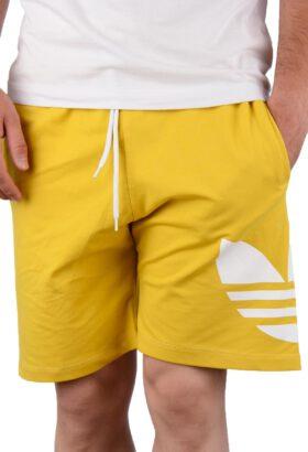 شلوارک مردانه اسپرت طرح adidas زرد 664